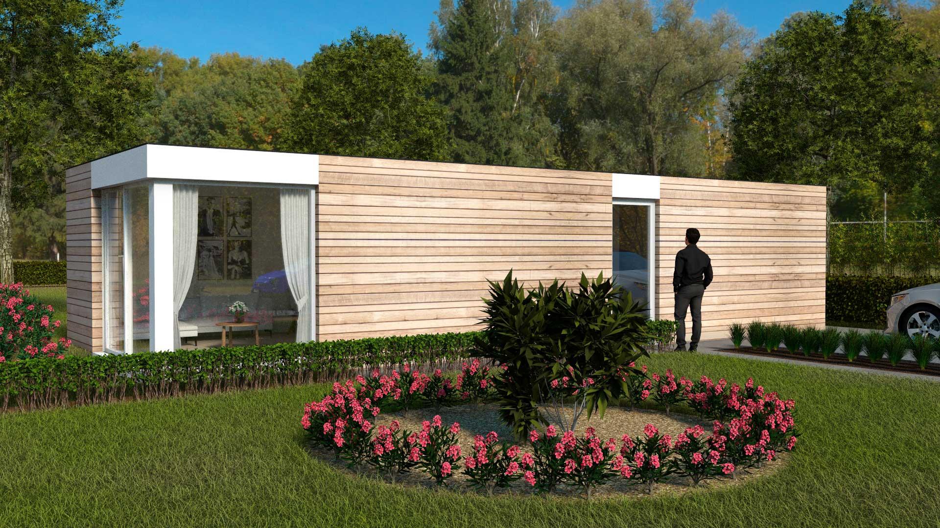 BenBox modulair bouwen met houtskelet - Model 1 - Variant 3